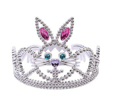 FANCY DRESS Tiara Silver Plastic Bunny