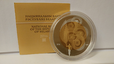 Belarus 2016 Olympic Movement of the Republic of Belarus 20 Rub Silver Coin