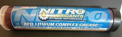 Nitro Lubricants Grease 10 Extreme Pressure Hi Temp Red Tacky Lithium tube heavy