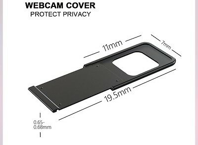 Ultra Thin 0.68mm Webcam Cover Privacy Protector (black) Laptops, PCs, Smart TVs