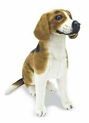 Large  Beagle - Lifelike Stuffed Animal Dog Plush toy 5O CM  UK SELLER