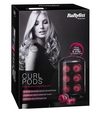 Babyliss Curl Pods 18 Large Size For Soft Curls New Worldwide 📦