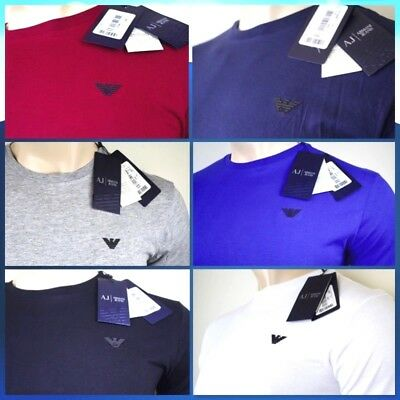 ARMANI JEANS Men's Crew Neck Slim Fit T-Shirt Short Sleeve