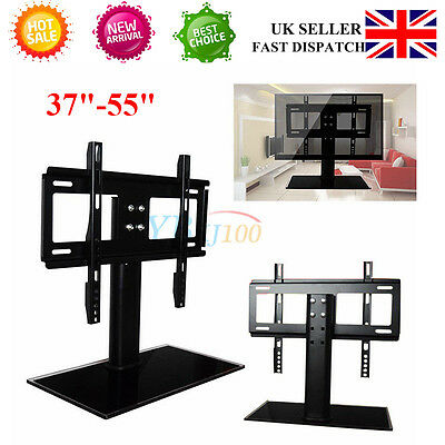 """BLK Bracket TV Stand Universal Tabletop TV Base Stand Mount For 37-55"""" LED LCD S"""