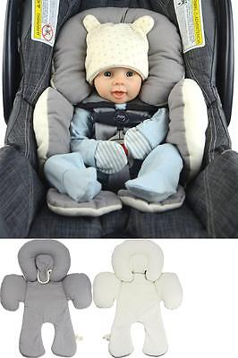 Reversible Infant Head Support Baby Cushion Pillow Car Strollers Seat Cotton