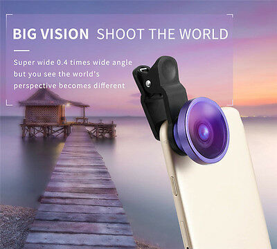 2 in 1 Clip Universal Cell phone Wide Angle+Macro Camera Lens For Mobile Phone
