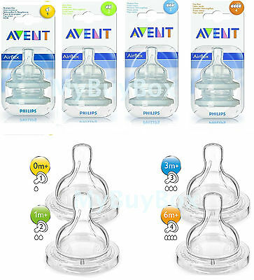 Philips Avent Classic+ Teats For Baby Milk Bottle Teat Slow Variable Fast Flow