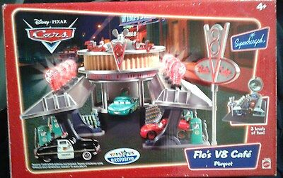 Mattel Disney Pixar Cars Flo's V8 Cafe Playset ***new & Factory Sealed***