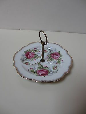 Vintage Lefton China Floral Sectioned server, marked, Hand Painted-FREE SHIPPING