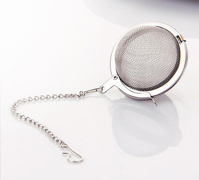 75MM DIA STAINLESS Steel Wire Mesh Tea Infuser Strainer Basket 10 ...