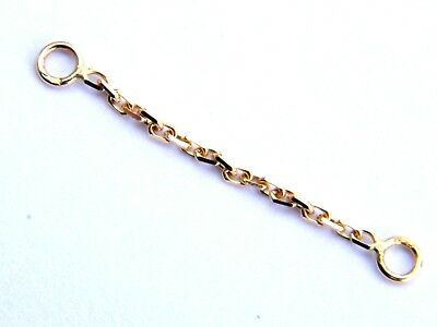 18ct Yellow Gold Short Bracelet Safety Chain-Findings-.750/18K Jewellery Making