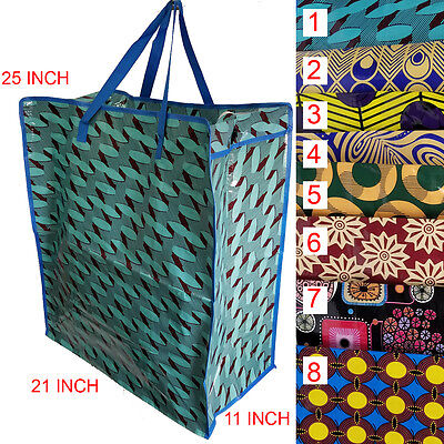 """Large shopping Tote bag Grocery laundry bag 25"""" x 21""""11 Reusable"""