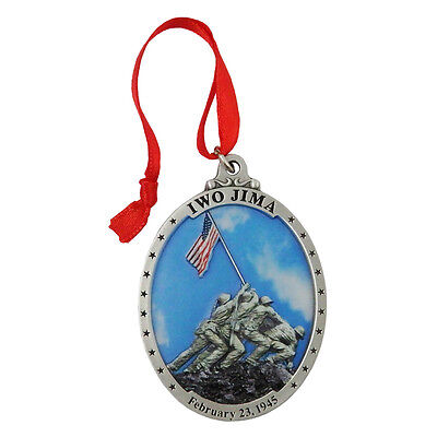 US Marine Corps Iwo Jima Pewter Gallery Print Ornament USMCOR206. Made in USA.