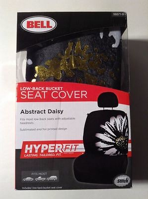 Bell #56571-9 Low-Back Bucket Seat Cover, Abstract Daisy (X13454-WH06*A)