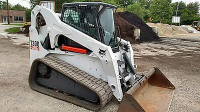 2005 Bobcat T300 Track Skid Steer Loader Cab, High Flow