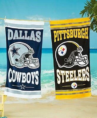 "NFL Beach Towel 100% Cotton 30"" by 60"" by WinCraft -Select- Team Below"