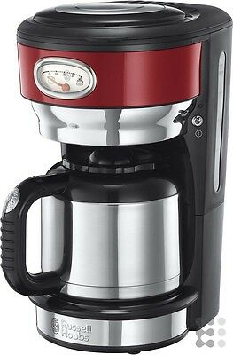 Russell Hobbs 21710-56 Retro Ribbon Red Thermo-Kaffeemaschine mit stylischer