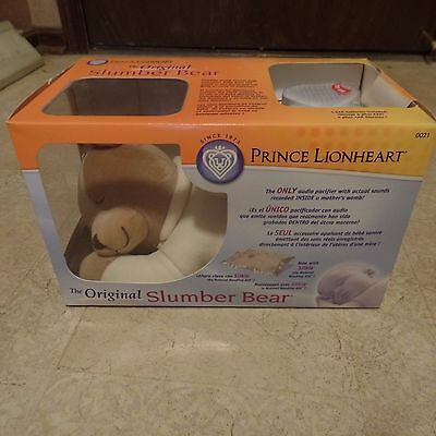 NEW Original SLUMBER BEAR by PRINCE LIONHEART Baby Infant Sleep Audio Womb Sound