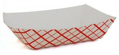 Southern Champion Tray 0401 25 Southland Paperboard Red Check Food Tray, 1/4lb