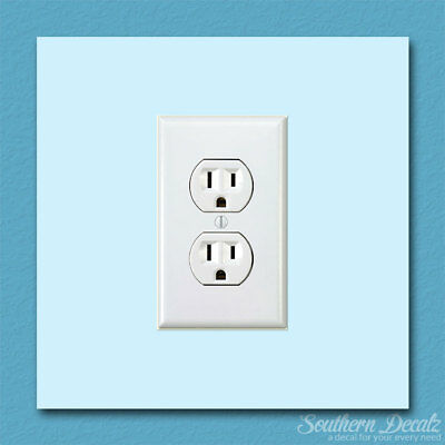 "Electrical Wall Socket - Vinyl Decal Sticker - c210 - 3.5"" x 5.75"""