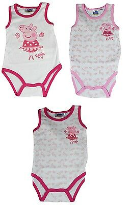 Peppa Wutz Body Suit 3er-set Baby Romper Various Sizes, Cotton, NEW