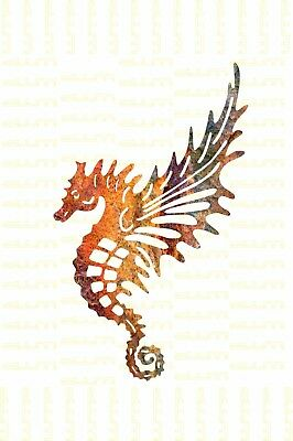 DXF CNC dxf for Plasma Router Clip Art Vector Seahorse Angel Man Cave