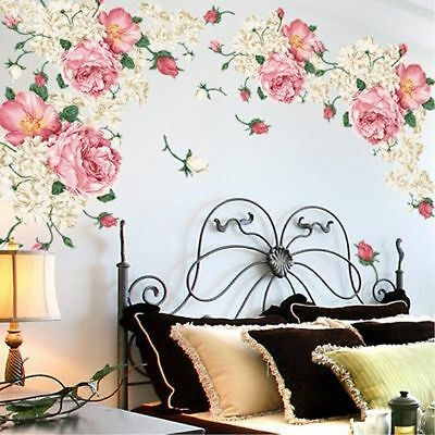 Flower Wall Art Stickers Removable Vinyl Decal Mural Home Office Decor Gift