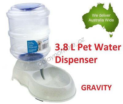 3.8 L Pet Dog Cat Bowl Water Dispenser Feeder Dish Bottle Automatic Drinking NEW