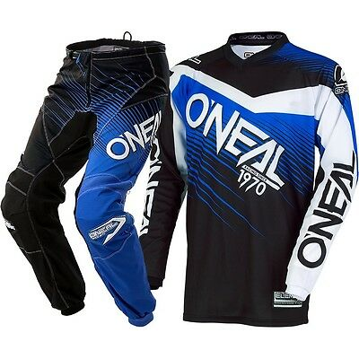 NEW Oneal 2018 Youth MX Element Black Blue Jersey Pants Kids Motocross Gear Set
