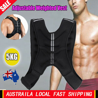 5KG WEIGHTED WEIGHT VEST ADJUSTABLE Size Healthy STRENGTH TRAINING RUNNING -AU