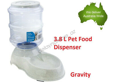 3.8 L Pet Dog Cat Bowl Food Dispenser Feeder Dish Bottle Automatic Drinking NEW