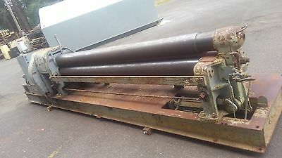 """WEBB PLATE ROLL 10' x 1/4"""" Capacity Initial Pinch Style Heavy US made"""