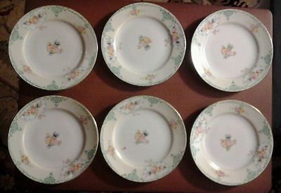 6 gold castle plates 6 1/4 in. japan
