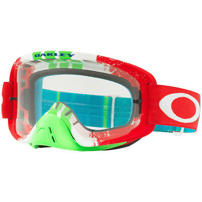 Oakley NEW Mx O Frame 2.0 Pinned Race Red Clear Motocross BMX MTB Goggles