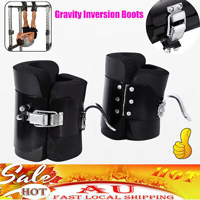 Gravity Inversion Boots Therapy Crossfit Hang Spine Posture GYM Fitness Training