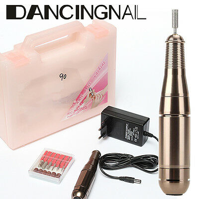 Professional Electric Acrylic Gel Nail Drill File Machine Kit with Bits Manicure