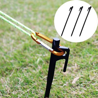 4 X 200mm Heavy Duty Cast Iron Tarp Tent Stake Peg Nail outdoor camping caravan