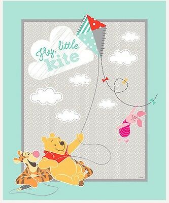 Disney Winnie The Pooh * Kite Flying With Friends Quilt Panel * New * Free Post