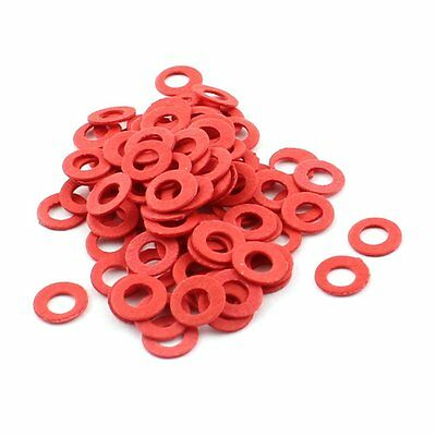 100pcs 6x3x0.5mm Insulated Paper Washer Spacer for Motherboard Red W2N6