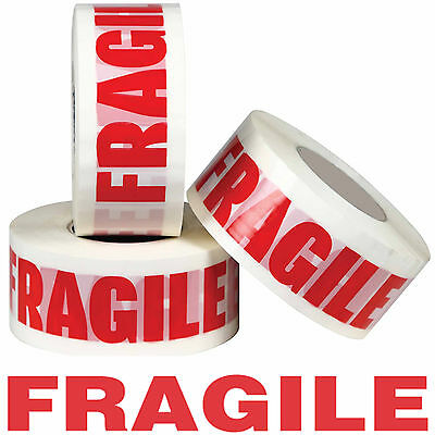 "FRAGILE PRINTED STRONG PARCEL TAPE MULTILISTING 12 6 24 36 50mm 66m BOX 2"" 72"