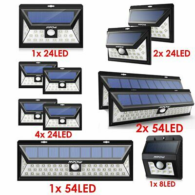 Mpow LED Solar Powered Motion Sensor Light Outdoor Garden Security Wall Lights