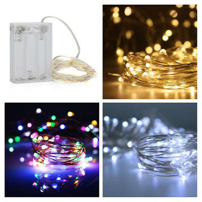 5M 50LED Warm White Light String Strip Copper Wire Fairy Lamp Battery Operated