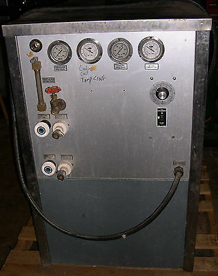 Filterine Water Cooled Recirculating Closed/Open Loop Chiller, used.