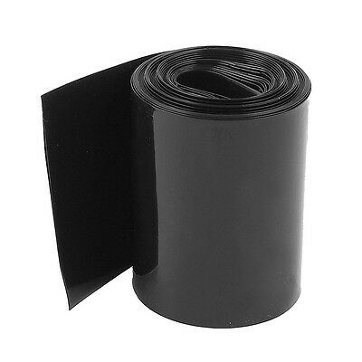 2Meter 56mm Width PVC Heat Shrink Wrap Tube Black for AAA Battery Pack CT L K7M2