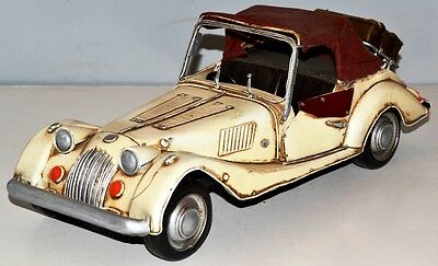 Morgan um 1959 Oldtimer Blechauto Blechmodell Tin Model Vintage Car 34 cm 37496