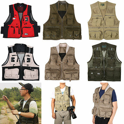 Comfortable Quick Dry Multi-pocket Fly Fishing Vest Photography Jacket L XXL SR