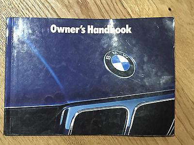 bmw e34 5 series owners handbook dated 1988 520i 525i 530i 535i rh picclick co uk e34 owners handbook e34 owners handbook