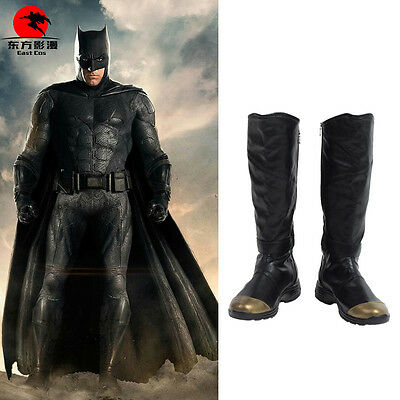 DFYM Justice League Batman Bruce Wayne Cosplay Leather Boots Shoes Custom Made