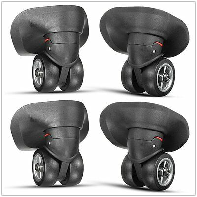 2/4pcs Rubber Castor Wheels trunk Caster Accessory for Travel Bag luggage case