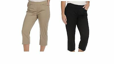 c4162bcdc217c NWT Women s Lee Natural Fit Kennedy Style-Up Pull-On Capri s 18 plus Black